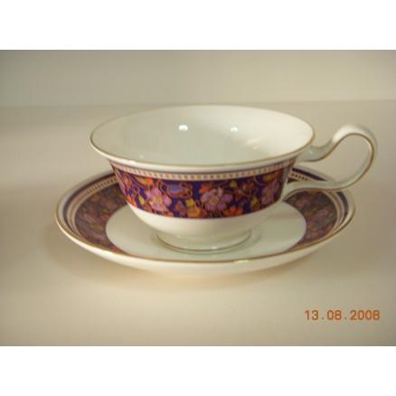 Fine Bone China Peony tea cup and saucer