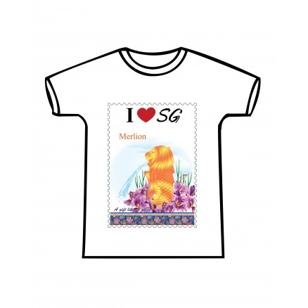 T-Shirt Merlion Design