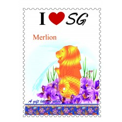 Merlion-Poster-Stamp-Design-A4-Size