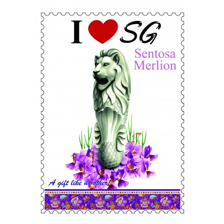 Sentosa-Merlion-Poster-Stamp-Design-A4-Size
