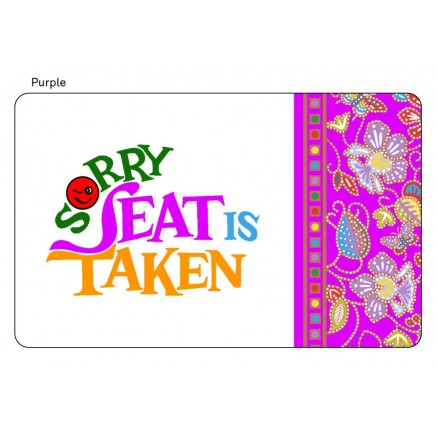 Chope Seat Cards Purple Color